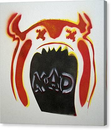 Mad O Rama Mad Red And White Canvas Print by Patricia Arroyo