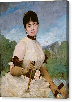Madame Marie Toulmouche Canvas Print by Jules Elie Delaunay