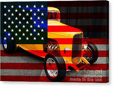 Made In The Usa . 1932 Ford 5 Window Coupe Canvas Print by Wingsdomain Art and Photography