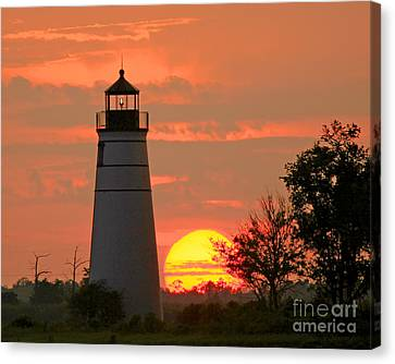 Madisonville Lighthouse Sunset Canvas Print