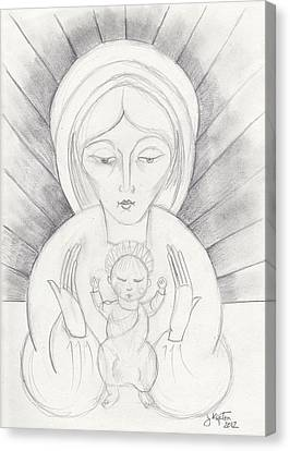 Madonna And Child Canvas Print by John Keaton