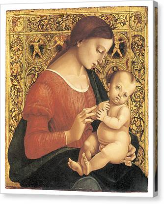 Madonna And Child Canvas Print by Luca Signorelli