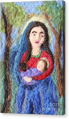 Madonna And Child Canvas Print by Nicole Besack
