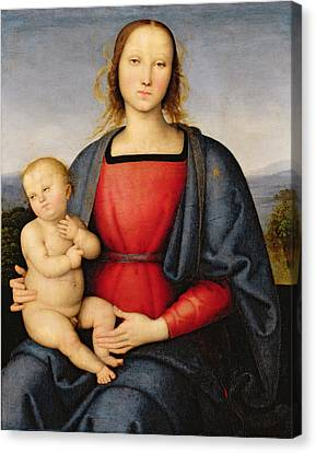 Madonna And Child Canvas Print by Pietro Perugino
