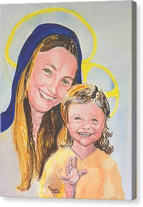 Madonna And Child Canvas Print by Susan  Clark
