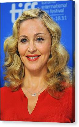 Madonna At The Press Conference Canvas Print