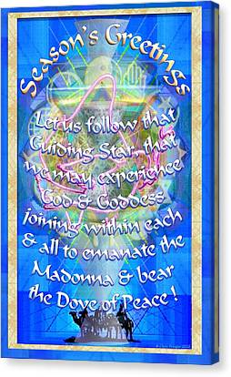 Madonna Dove Chalice-synthesis And Logos With Text Canvas Print by Christopher Pringer