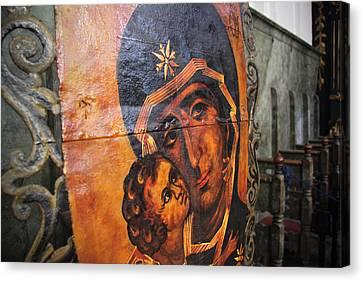 Madonna Icon - Szentendre Canvas Print by Tibor Puski