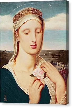Madonna Canvas Print by Simeon Solomon