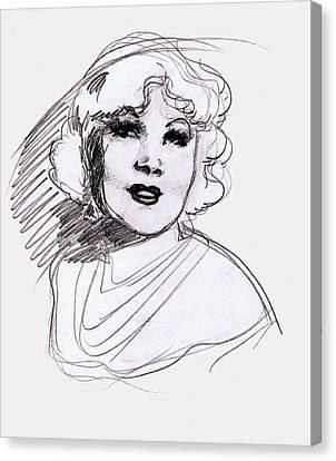 Mae West Canvas Print by Mel Thompson