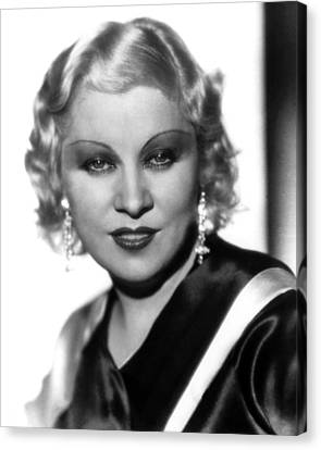 Mae West, Paramount Pictures, Ca. Early Canvas Print by Everett