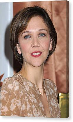 Maggie Gyllenhaal At A Public Canvas Print by Everett