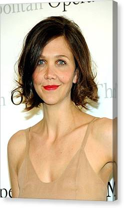Metropolitan Opera House At Lincoln Center Canvas Print - Maggie Gyllenhaal At Arrivals by Everett