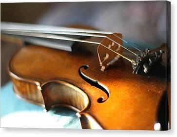 Maggini's Violin With Beautiful Sound Canvas Print