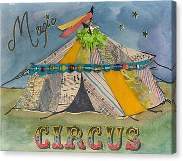 Magic Circus Canvas Print by Casey Rasmussen White
