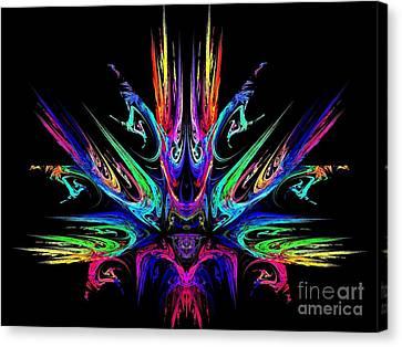 Magic Fire Canvas Print by Klara Acel