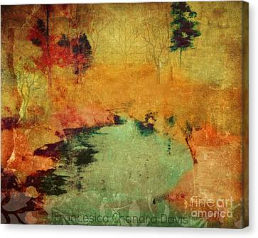 Magic In Autumn Mist Canvas Print by Sacred  Muse
