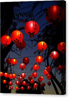 Magic Lanterns For Buddha Birthday Canvas Print by Nikki Yetman