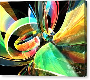 Canvas Print featuring the digital art Magic Rings by Phil Perkins