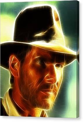 Magical Indiana Jones Canvas Print by Paul Van Scott