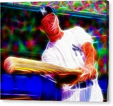 Magical Mickey Mantle Canvas Print by Paul Van Scott