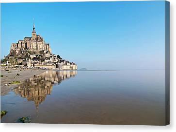 Magical Mont Saint-michel Canvas Print by Paul Biris