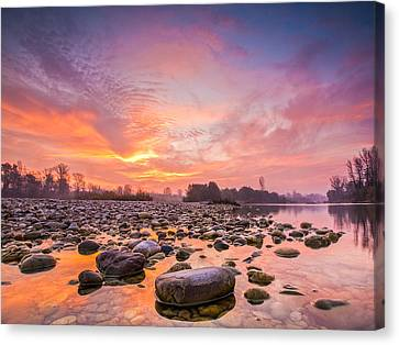 Magical Morning Canvas Print by Davorin Mance