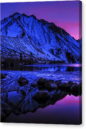 Magical Sunset Over Mount Morrison And Convict Lake Canvas Print by Scott McGuire