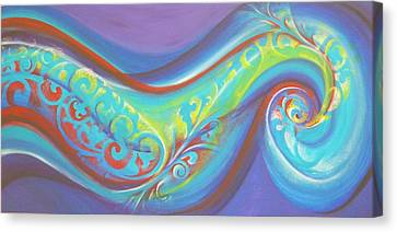Magical Wave Water Canvas Print by Reina Cottier