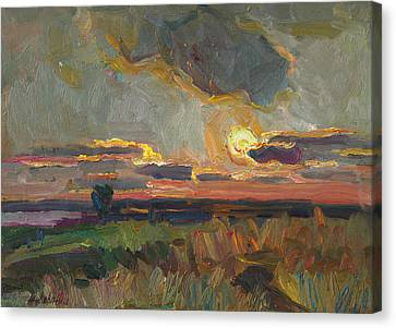 Magical World Of Sunset Canvas Print by Juliya Zhukova