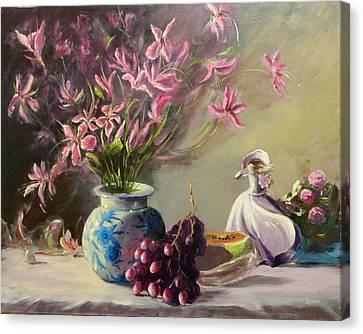 Magnolias Canvas Print by Thomas Kearon