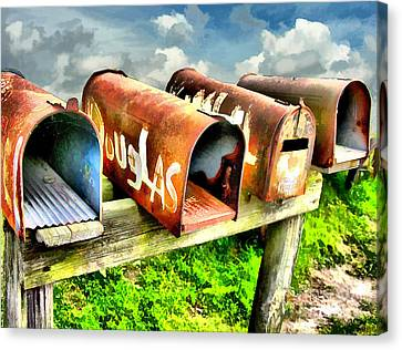 Mail Boxes Canvas Print by Tom Griffithe