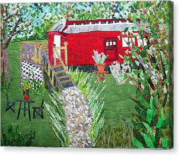 Mail Car Guest House At Lacaboose B And B Canvas Print by Charlene White