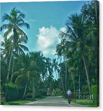 Mail Delivery In Paradise Canvas Print by Peggy Starks
