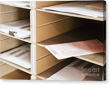 Mail In Office Mailboxes Canvas Print by Jetta Productions, Inc