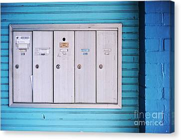 Mailboxes Canvas Print by HD Connelly