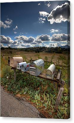 Mailboxes  Canvas Print by Peter Tellone