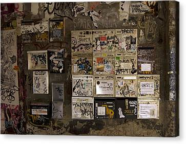 Mailboxes With Graffiti Canvas Print by RicardMN Photography
