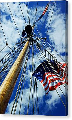 Canvas Print featuring the photograph Main Rigging by Randall  Cogle