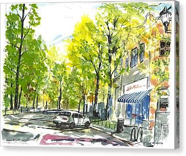 Main Street Greenville Spring Canvas Print