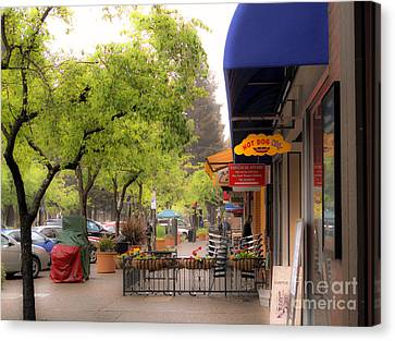Canvas Print featuring the photograph Main Street by Leslie Hunziker