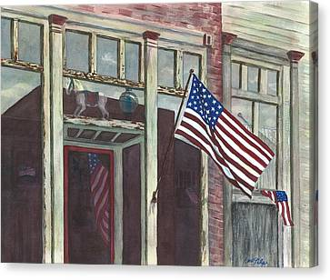 Main Street Usa Canvas Print by Rosie Phillips