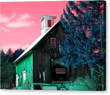Maine Barn Canvas Print by Marie Jamieson