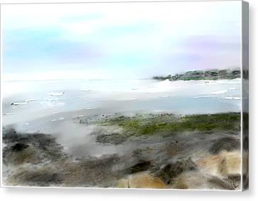 Rocky Maine Coast Canvas Print - Maine Coast by Donna Robichaud