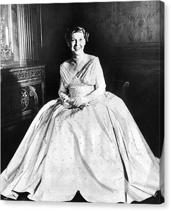 Maine Eisenhower Models The Gown Canvas Print by Everett