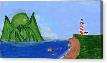 Maine Gets Eaten First Canvas Print by Shaun Clayton