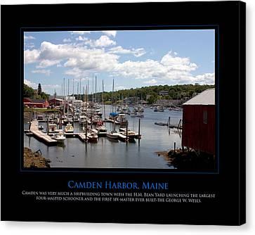 Maine Harbour Canvas Print by Jim McDonald Photography