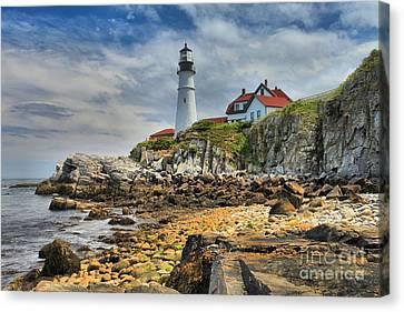 Maine Head Light Canvas Print by Adam Jewell