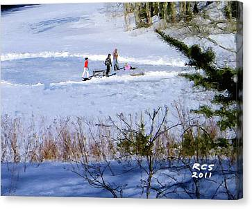 Maine Ice Skaters Canvas Print
