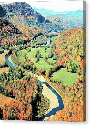 Maine River Canvas Print by Richard Stevens